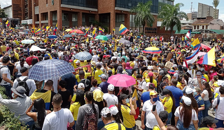 Vreedzame manifestaties in Colombia